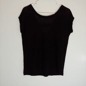 [Chaser] Black Back Cutout Top